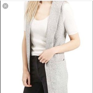 Top shop long sweatshirt vest